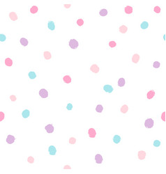 different colors dots background vector image