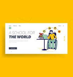 distant online education webinar landing page vector image