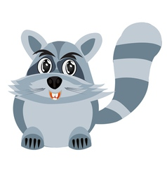 Drawing of the racoon on white background vector