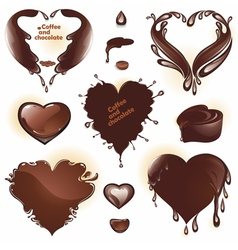 Drops and splashes in the shape of a heart vector image