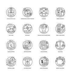 exclusive pack of banking and finance icons vector image