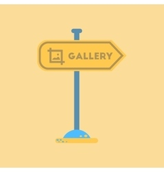 flat icon on background sign gallery vector image