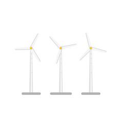 flat windmill wind turbine vector image