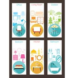 Furniture Concept Backdrop vector image
