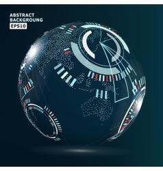 Futuristic Globalization Interface vector