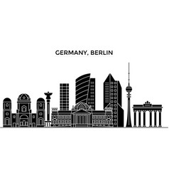 Germany berlin architecture city skyline vector