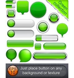 Green high-detailed modern buttons vector