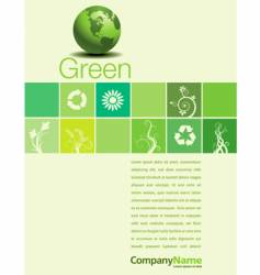 Green page vector