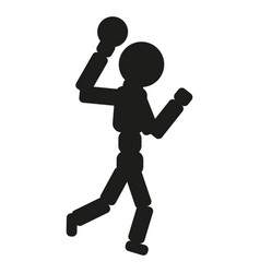 handball player man black vector image