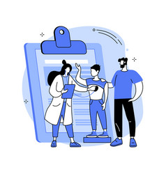 Head to toe physical examination abstract concept vector
