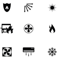 heat icon set vector image