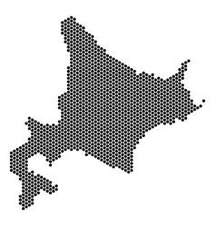 Hex tile hokkaido island map vector