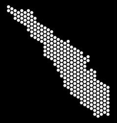 Hexagonal sumatra island map vector