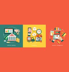 internet banking vector image