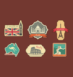 Labels of travel vector