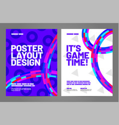 Layout poster template design for sport event vector