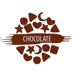 Logo for a set chocolate candies vector