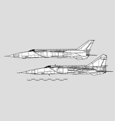 Mikoyan-gurevich mig-25r foxbat vector