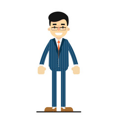 Positive and young office manager character vector