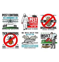 Professional pest control extermination service vector