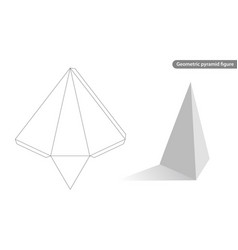 pyramid geometric vector image