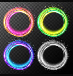 rings of lights in four colors vector image