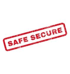 Safe Secure Rubber Stamp vector image
