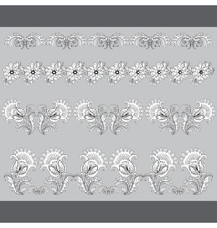Set of paterns borders for design vector