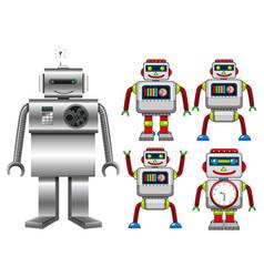 set robot toys vector image