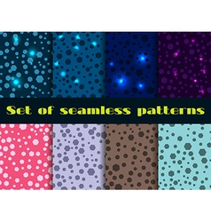 Set seamless pattern with shining sequins vector