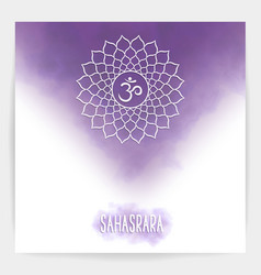 Seventh crown chakra - sahasrara vector