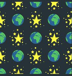 shiny stars style seamless pattern nature globe vector image