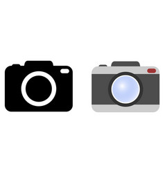 simple camera symbol version with icon in black vector image