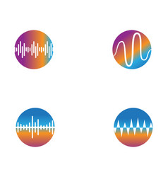 Sound wave ilustration logo icon template vector