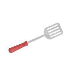 Spatula for barbecue closeup vector