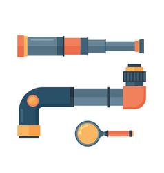 Spyglass telescope lens vector