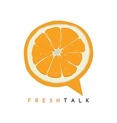 Sweet orange fruit fresh talk vector