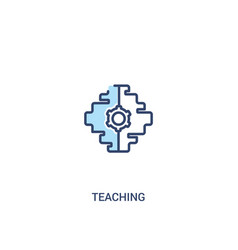Teaching concept 2 colored icon simple line vector