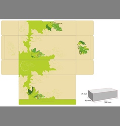 Template for box design with grapevine vector