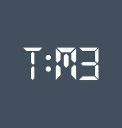 time text concept vector image