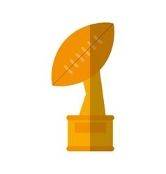 Trophy winner ball shape american football vector
