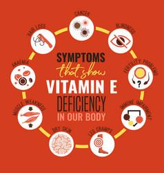 Vitamin e deficiency vector