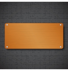 Wood frame on black textured background vector image