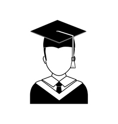 Young student graduation vector image