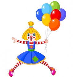 clown girl vector image vector image
