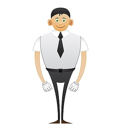 Leggy Office man vector image vector image
