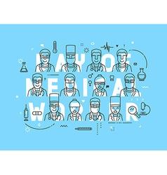 Medicine concept design day of medical worker vector image vector image