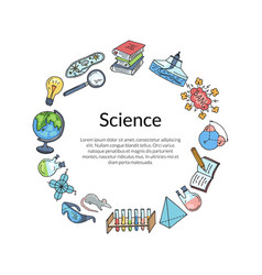 sketched science or chemistry vector image