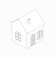 Little house icon isometric 3d style vector image