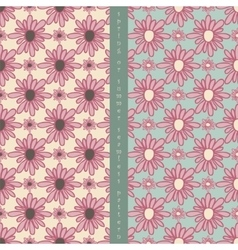 set of seamless pattern vector image vector image